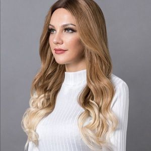 Blonde ombré remy human hair lace wig